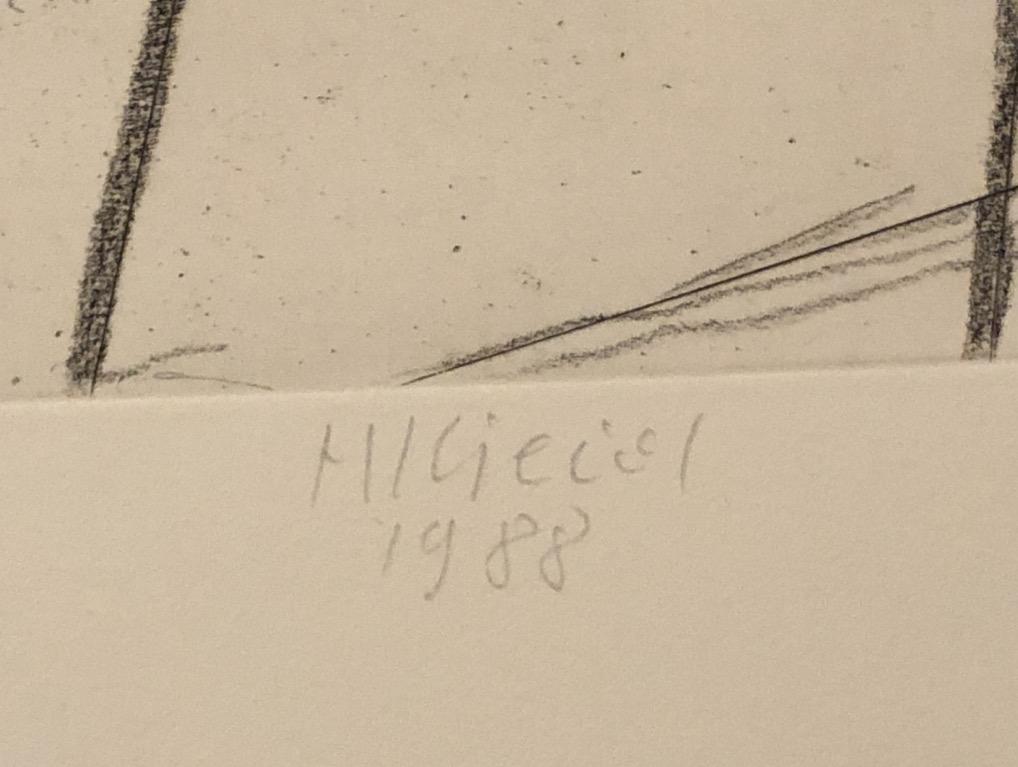 hubert kiecol ohne titel radierung 1988 handsigniert. Black Bedroom Furniture Sets. Home Design Ideas