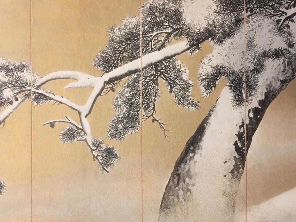maruyama okyo schnee auf kiefern farbholzschnitt ca 1907 ukyio e ebay. Black Bedroom Furniture Sets. Home Design Ideas